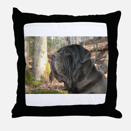 Unique Neapolitan mastiff Throw Pillow