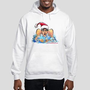 Xmas Swim Hooded Sweatshirt