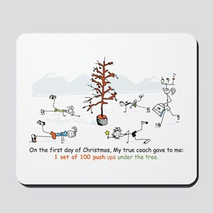 Runner's First Day of Christm Mousepad
