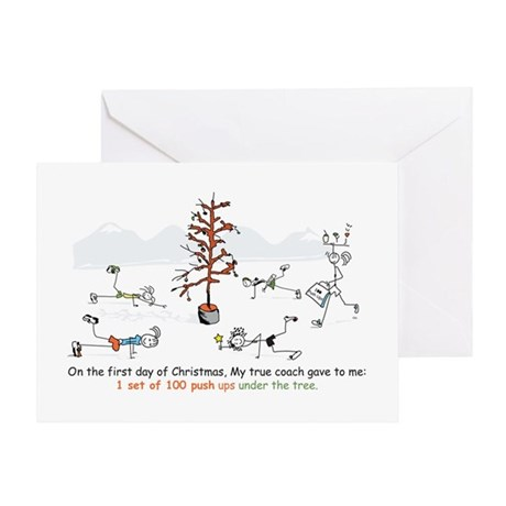 Runner's First Day of Christm Greeting Card