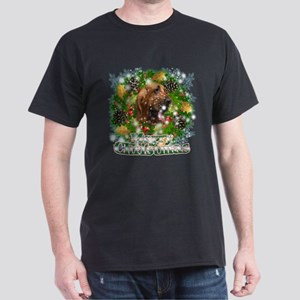 Merry Christmas Bloodhound Dark T-Shirt