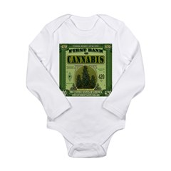 BANK OF CANNABIS Long Sleeve Infant Bodysuit
