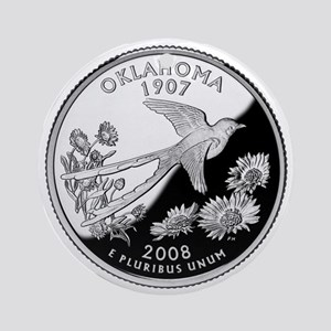 State Quarter Ornament (Round)