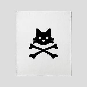 Kitty X-Bones by Rotem Gear Throw Blanket