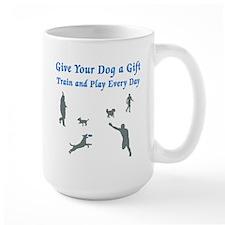 Give Your Dog A Gift Large Mug