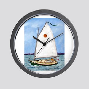 Catboat Wall Clock