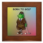 Born to Golf (#2) Framed Tile