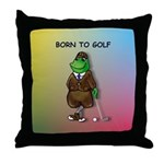 Born to Golf (#2) Throw Pillow