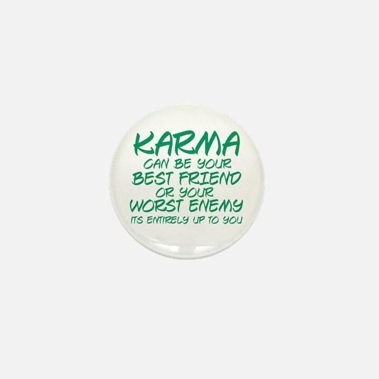 Karma Friend Mini Button