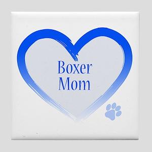 Boxer Blue Heart Tile Coaster
