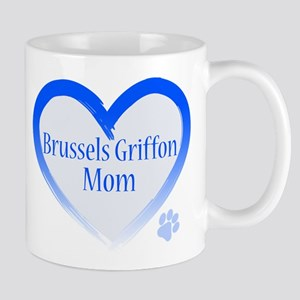 Brussels Griffon Blue Heart Mug
