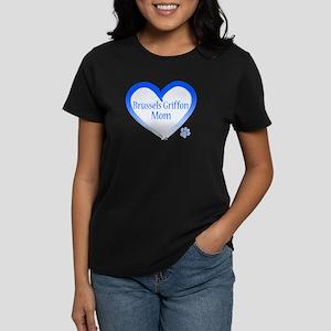 Brussels Griffon Blue Heart Women's Dark T-Shirt