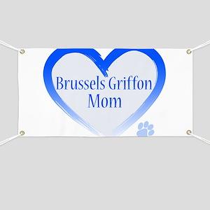 Brussels Griffon Blue Heart Banner