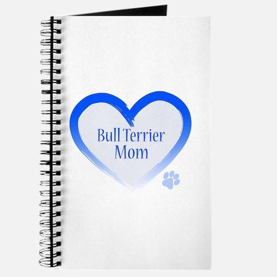 Bull Terrier Blue Heart Journal