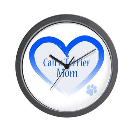 Cairn Terrier Blue Heart Wall Clock