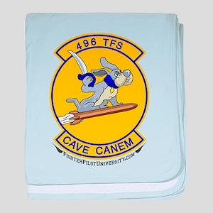 496th TFS baby blanket