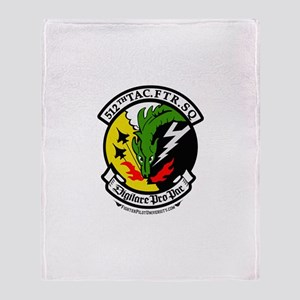 512th TFS Throw Blanket