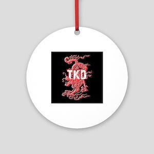 Taekwondo Dragon Ornament (Round)