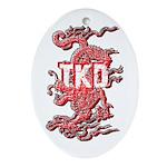 Taekwondo Dragon Ornament (Oval)