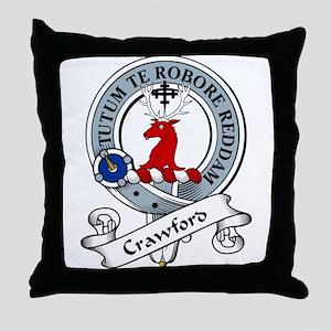 Crawford Clan Badge Throw Pillow