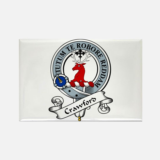 Crawford Clan Badge Rectangle Magnet (10 pack)