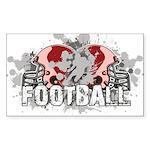 Football Sticker (Rectangle 10 pk)