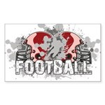Football Sticker (Rectangle)