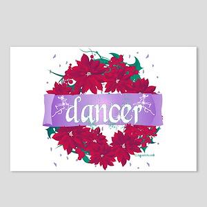 Dancer Wreath Christmas Cards Postcards (Package o