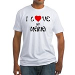 I Love My Nana Fitted T-Shirt