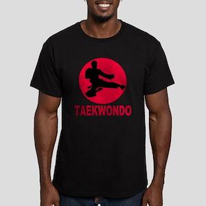 Taekwondo Men's Fitted T-Shirt (dark)
