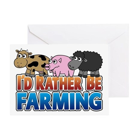 Farmville Inspired 3 animals Greeting Card