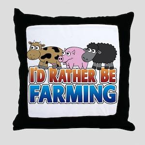 Farmville Inspired 3 animals Throw Pillow