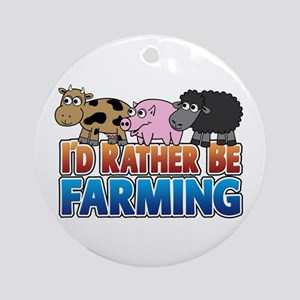 Farmville Inspired 3 animals Ornament (Round)