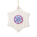 Blue Mandala Snowflake Ornament