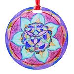 Blue Mandala Round Ornament