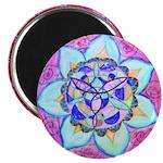 Blue Mandala Magnets