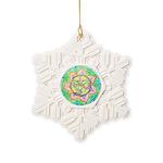 Golden Mandala Snowflake Ornament