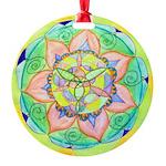 Golden Mandala Round Ornament