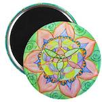 Golden Mandala Magnets