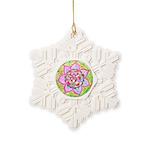Rose Mandala Snowflake Ornament