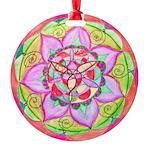 Rose Mandala Round Ornament