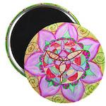 Rose Mandala Magnets