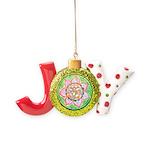 Orange Mandala Joy Ornament