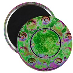 Green and Pink Wheel Magnets