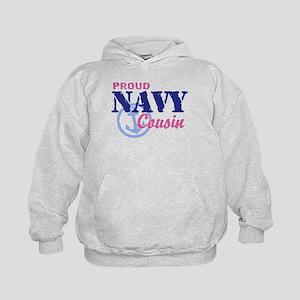 Proud Navy Cousin Kids Hoodie