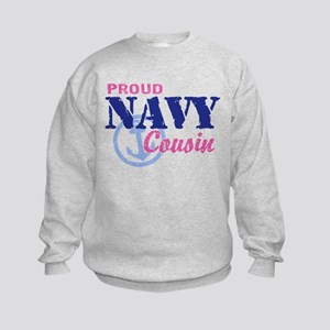 Proud Navy Cousin Kids Sweatshirt