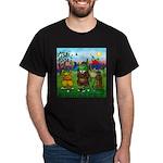 Golfing frogs Black T-Shirt