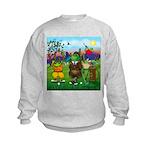 Golfing frogs Kids Sweatshirt