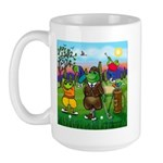 Golfing frogs Large Mug