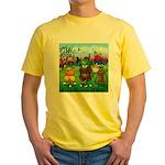 Golfing frogs Yellow T-Shirt